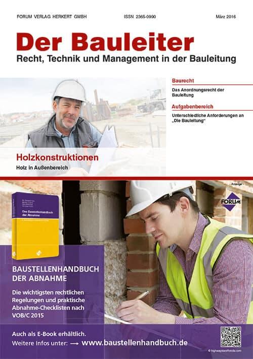 Ausgabe März 2016<br>Holzkonstruktionen