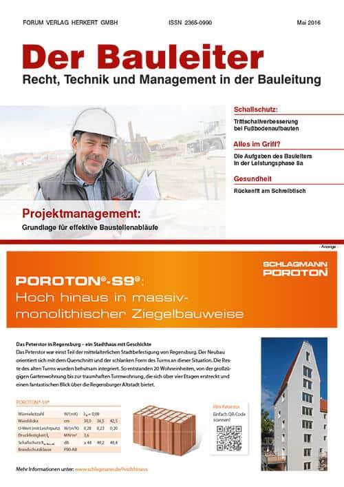 Ausgabe Mai 2016<br>Projektmanagement