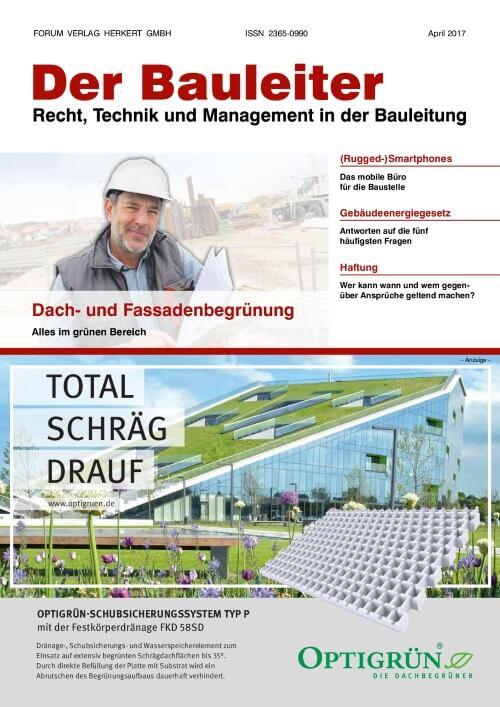 Ausgabe April 2017<br>Dach- und Fassadenbegrünung