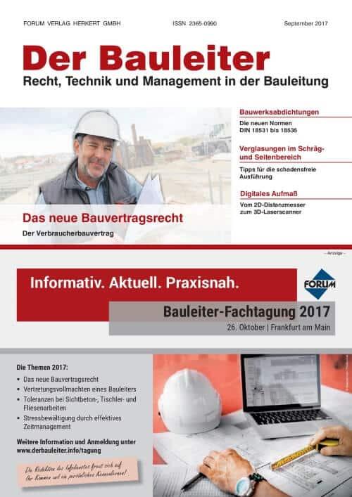 Ausgabe September 2017<br>Bauvertragsrecht