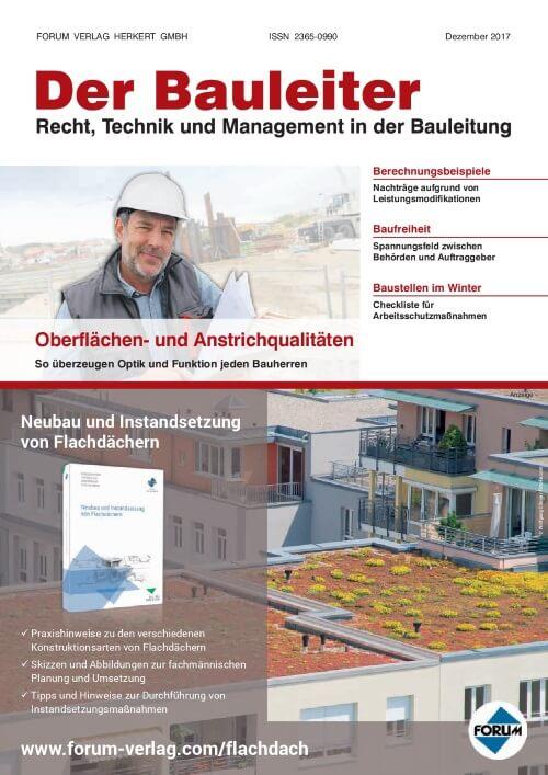 Ausgabe Dezember 2017<br>Oberflächen- und Anstrichqualitäten