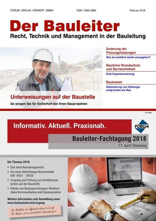 Ausgabe Februar 2018<br>Unterweisungen Baustelle