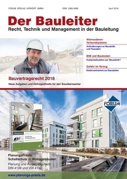 Ausgabe April 2018<br>Bauvertragsrecht 2018