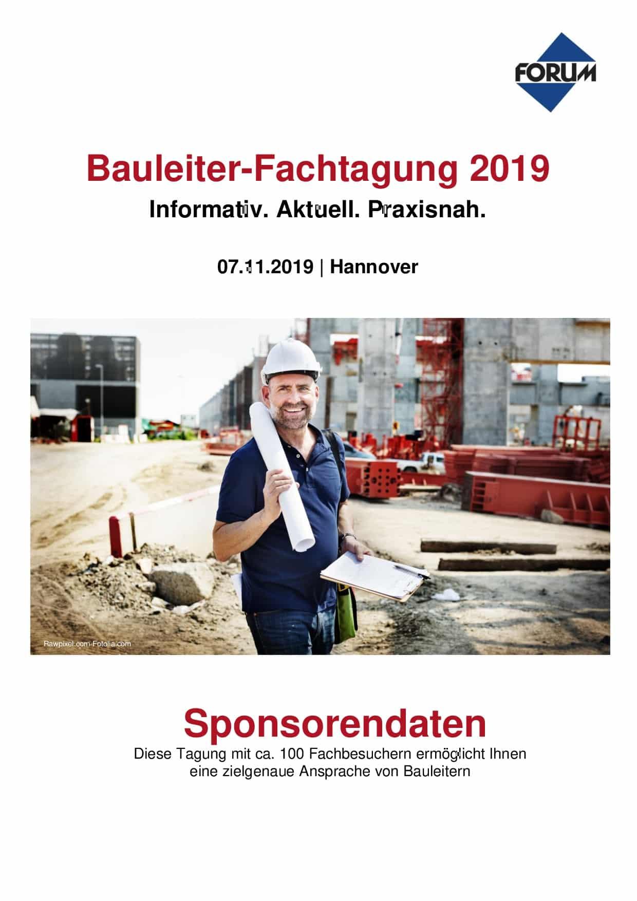 Bauleiter Fachtagung 2019