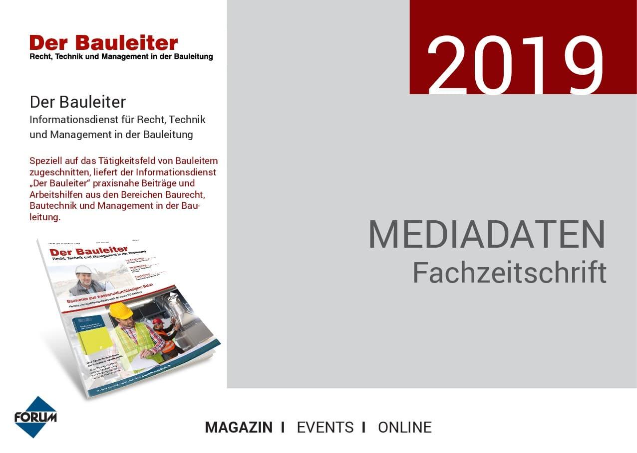 Mediadaten Bauleiter 2019