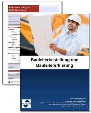 Bauleiterbestellung und Bauleitererklärung