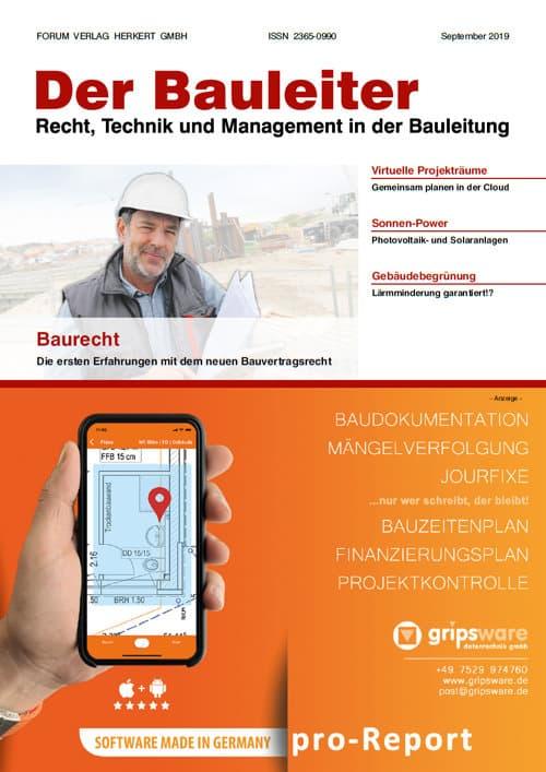 Ausgabe September 2019<br>Baurecht