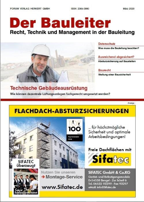 Ausgabe März 2020<br>Technische Gebäudeausrüstung